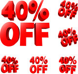 40% off Discount sale sign