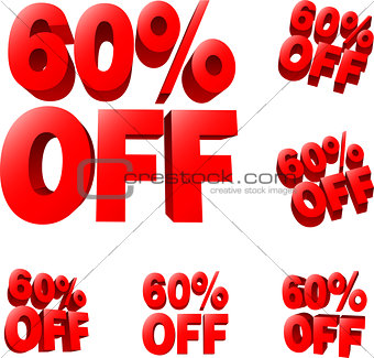 60% off Discount sale sign