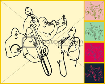 Sketched Music Color Set