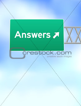 Answers Highway Sign