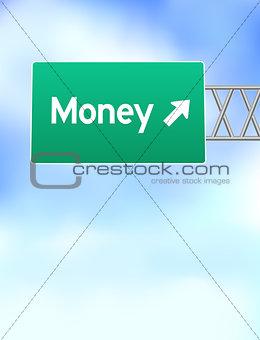 Money Highway Sign