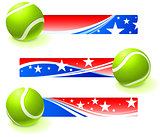 Tennis Bal with Patriotic Banners