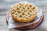 Traditional american apple pie