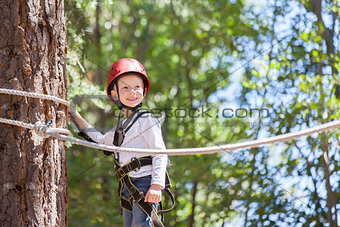 boy at adventure park