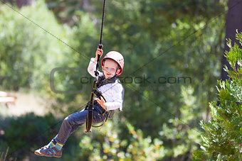 boy at adventure park