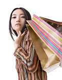 Elegant Asian woman shopping