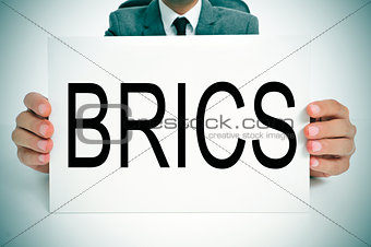 BRICS, for the five major emerging national economies Brazil, Ru