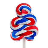 lollipop with the colors of the flag of the United States
