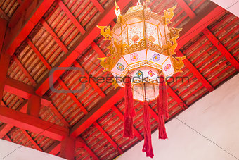 Old style of cotton and paper lantern