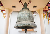 Metal bell in buddhist temple Chiang Mai, Thailand