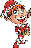 Cartoon Xmas elf
