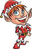 Cartoon Xmas elf