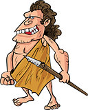 Cartoon caveman with a spear