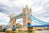 London Tower Bridge on Thames River