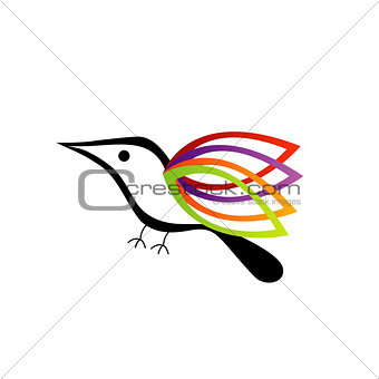 A Bird With Colorful Wings