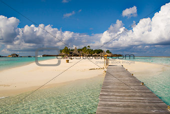 An island from maldives