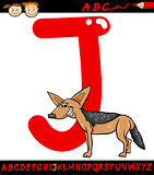 letter j for jackal cartoon illustration