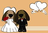 dog married cartoon background