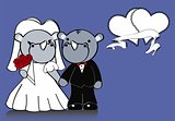rhino married cartoon background