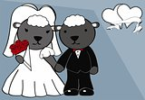sheep married cartoon background
