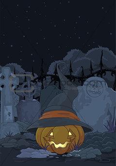 Cemetery pumpkin