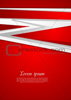 Abstract modern red background
