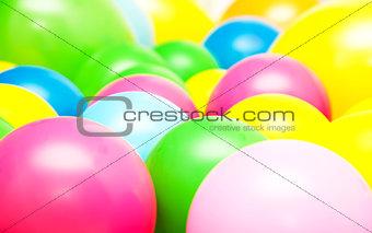 Bright multicolor balloon closeup