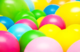 Bright party multicolor balloons