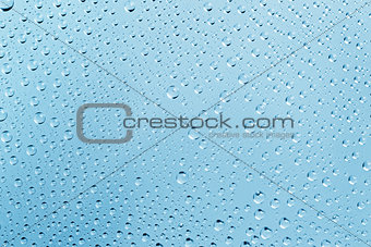 Abstract Water Drops Light-blue Background