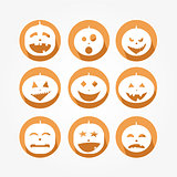 Icons set for the halloween