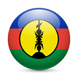 Round glossy icon of New Caledonia