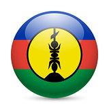 Round glossy icon of New Caledonia