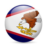 Round glossy icon of American Samoa