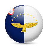 Round glossy icon of Azores