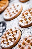 honey cookies on baking sheet