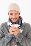 Handsome young man in warm clothing