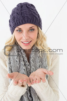 Attractive young woman in warm clothing