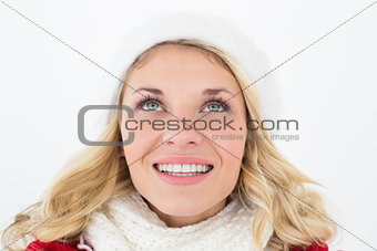 Close up of attractive young woman