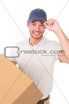 Portrait of smiling young delivery man