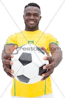 Portrait of Brazilian football player