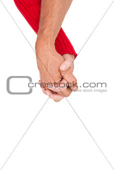 Close up of holding hands