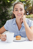 Beautiful woman having a coffee