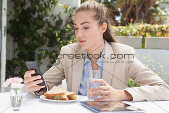 Beautiful businesswoman on her lunch