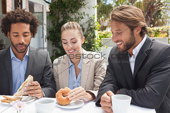 Business colleagues on their lunch