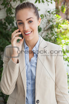 Beautiful businesswoman on the phone