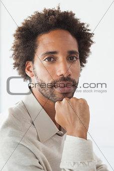 Handsome man looking at camera
