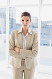 Pretty businesswoman looking at camera