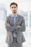 Businessman looking at camera