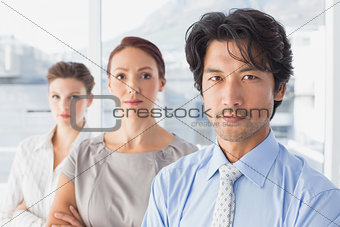Business team standing all together