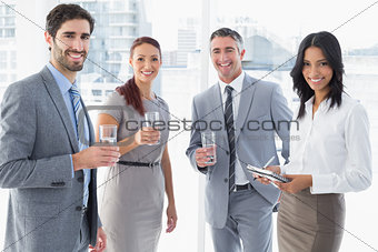 Business team having some drinks